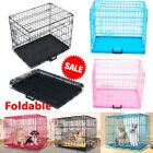 Small Medium Large XL Pet Dog Cage Crate Foldable Carry Transport Carrier New