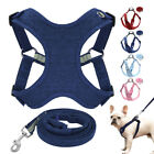 Step In Pet Dog Harness and Lead set Soft Reflective Vest Beagle Dachshund XXS-L