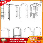 Garden Arch Gate Metal Decorative Pergola Rose Archway Arched Plant Climbing UK