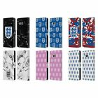 ENGLAND FOOTBALL TEAM CREST AND PATTERNS LEATHER BOOK CASE FOR HTC PHONES 1