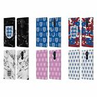 ENGLAND FOOTBALL TEAM CREST PATTERN LEATHER BOOK CASE FOR MICROSOFT NOKIA PHONES