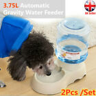 2X Automatic Pets Food Drink Dispenser Dog Cat Feeder Water Bowl Dish 3.75L A4J2