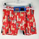 Crazy Boxer Briefs Christmas 2 Pack Red Black Llama Men's Large XL New