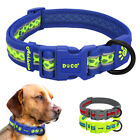 Safety Reflective Pet Dog Collars Mesh Padded for Small Medium Large Dogs Yellow