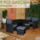 New Luxury Outdoor Garden 9 Pcs Dining Set Patio Furniture Set