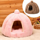 Large Cat Bed Cave Small Wool Cozy Pet Igloo Bed Winter Warm House Nest Kennel