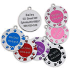 OH SH*T I'M LOST ROUND PAW SHAPE ENGRAVED ID NAME PERSONALIZED PET CAT DOG TAGS