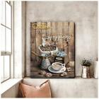 Coffee Happiness In A Cup Wall Art Glossy Poster Anniversary Birthday Best Gift