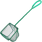 4 Inch Aquarium Net Fine Mesh Small Fish Catch Nets with Plastic Handle in Green