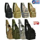Mens Shoulder Chest Bag Military Tactical Backpack Travel Camping Hiking Outdoor