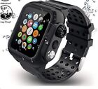 Waterproof Case with Band Strap For Apple Watch Series 6 5 4 SE iWatch 40 / 44mm