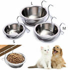 Stainless Steel Pets Dog Cat Feeding Food Hanging Bowls Water Dish Feeding Dish