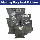 Grey Mailing Bag Packaging Security Seals - Choose Your Sticker Size