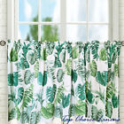 Country Style Cotton Kitchen Window Monstera Leaf Cafe Curtain 40 & 60cml