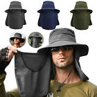 Outdoor UV Protection Sun Hat Neck Face Flap Wide Brim Cap for Fishing Hiking US