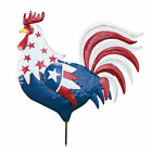 Collections Etc Left and Right Facing Patriotic Rooster Lawn Stake