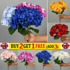 Artificial Flowers Silk Peony Fake Hydrangea Bouquet Wedding Home Party Decor