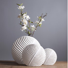 Nordic Home Decoration Ceramic Round Flat Leaf Flower Vase Home Decor Gifts