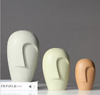 Nordic Style Modern Human Face Ceramic Vase Flower Pot Home Decor Furnishings