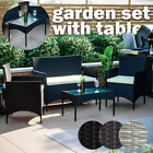 Rattan Garden Furniture Set Chairs Sofa Table Outdoor Dining Bench Patio Kendal