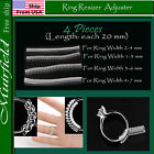 4 pieces Ring Resizer Jewelry Size Reducer Adjuster Invisible US 2mm-7mmRing Sizers & Stretchers - 34086