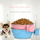 Pet Dog/Cat Puppy Stainless Steel Hanging Food Water Bowl Feeder For Crate Cage