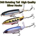 Fishing Lures 3-Set Baits Whopper Plopper WaterTop Rotating Tail Bass Trout