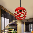 Metal Chandelier Globe Light Sphere Hanging Fixture Ceiling Dining Room Round
