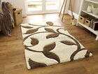 SMALL- EXTRA LARGE THICK DEEP PILE SHAGGY SOFT CREAM IVORY WHITE BEIGE/BROWN RUG