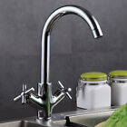 Monobloc Kitchen Sink Taps Single / Twin Lever Basin Mixer Tap Brass Faucet NEW