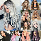Women Ladies Long Curly Wigs Wavy Hair Full Head Ombre Party Cosplay Natural Wig