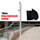 110cm Glass  Balustrade Railing Posts Clamps 316 Stainless Steel Pole Handrail
