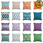 """16"""" 18"""" 20"""" 24"""" Waterproof Cushion Cover Pillow Case Throw Outdoor Home Decor Uk"""