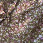 By Yard Rose Floral Patterned Satin Fabric