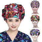 1pc Surgery Medical Surgical Cap Cotton Printing Doctor Nurse Chef Hat Kitchen