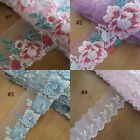 """2.5""""-4.5"""" Tulle Mesh Lace with Embroidered Floral Pink,Baby Blue,Baby Pink zheh8"""