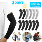 3 Pairs Unisex Cooling Arm Sleeves Cover UV Sun Protection Outdoor Sports Golf