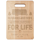 Wooden maple Camping cutting board Personalized camp gift RV decor