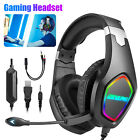 3.5mm Gaming Headset Mic LED RGB Adjustable Stereo Headphone for PS4/PC/Xbox ONE