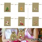 24pcs+Linen+Drawstring+Christmas+Gift+Bag+Candy+Cookie+Wrapping+Pouch+Festival