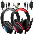 3.5mm Wired Gaming Headset Stereo Sound Headphone for PS5/Xbox One/Nintendo/PC