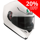 AGV K5-S Pearl White Full Face Motorcycle Helmet Size XS **SAVE 20%**