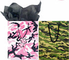 GIFT BAGS - WOODLAND CAMO AND PINK CAMO - 2 SIZES AVAIL
