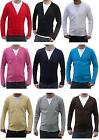 NEW MENS SLIM FIT FITTED BUTTON CARDIGAN JUMPER INDIE MOD SWEATER★XS S M L XL★