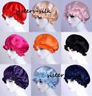 NEW Pretty Pure 100% Silk Sleep Cap Hair Bonnet Hats AF496 Sisters Silk