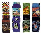 12 Pairs Boys Design Cotton Socks All Sizes 5 Designs