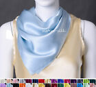 "100% Silk Scarf Silk Charmeuse Square Scarf Shawl 22""x22"" 30 colors"