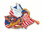 Ceramic Decals Patriotic Angel Horn Flag Red/White/Blue image
