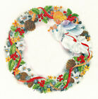 Ceramic Decals Christmas Angel Holiday Wreath w/ Ribbon Pinecone Holly Floral image