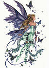 Ceramic Decals Butterfly Fairy Purple Green image